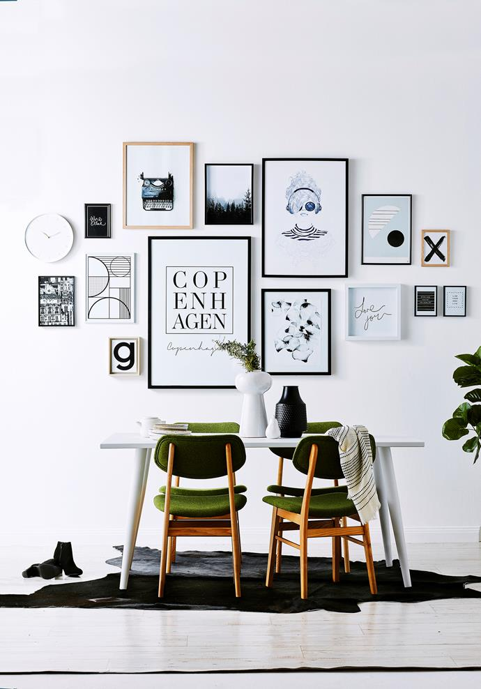 "**Get arty:** [Gallery walls](https://www.homestolove.com.au/how-to-create-an-art-gallery-wall-4860|target=""_blank"") are a great way to showcase a bunch of smaller artworks. Try to have one common thread that ties them all together – colour, subject matter, frame style – and lay them all on the floor to get the arrangement just so before using paper cut-outs to place them on the wall."