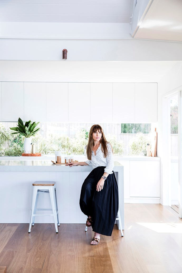 The couple's architect, Rachel Hudson (pictured), focused on natural materials to create a relaxed coastal vibe.