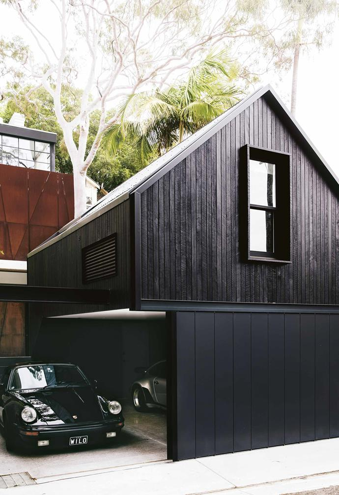 "The house feels modern, yet warm, with its material mix and layering of textures throughout. ""Because Tom is a designer himself, the house turned out to be a great collaboration between his ideas and ours,"" says Steve. ""I love seeing it all work together,"" says Tom. ""We use every single level of the house.""<br><br>**Exterior** The use of black timber continues in the garage which houses a studio above it."