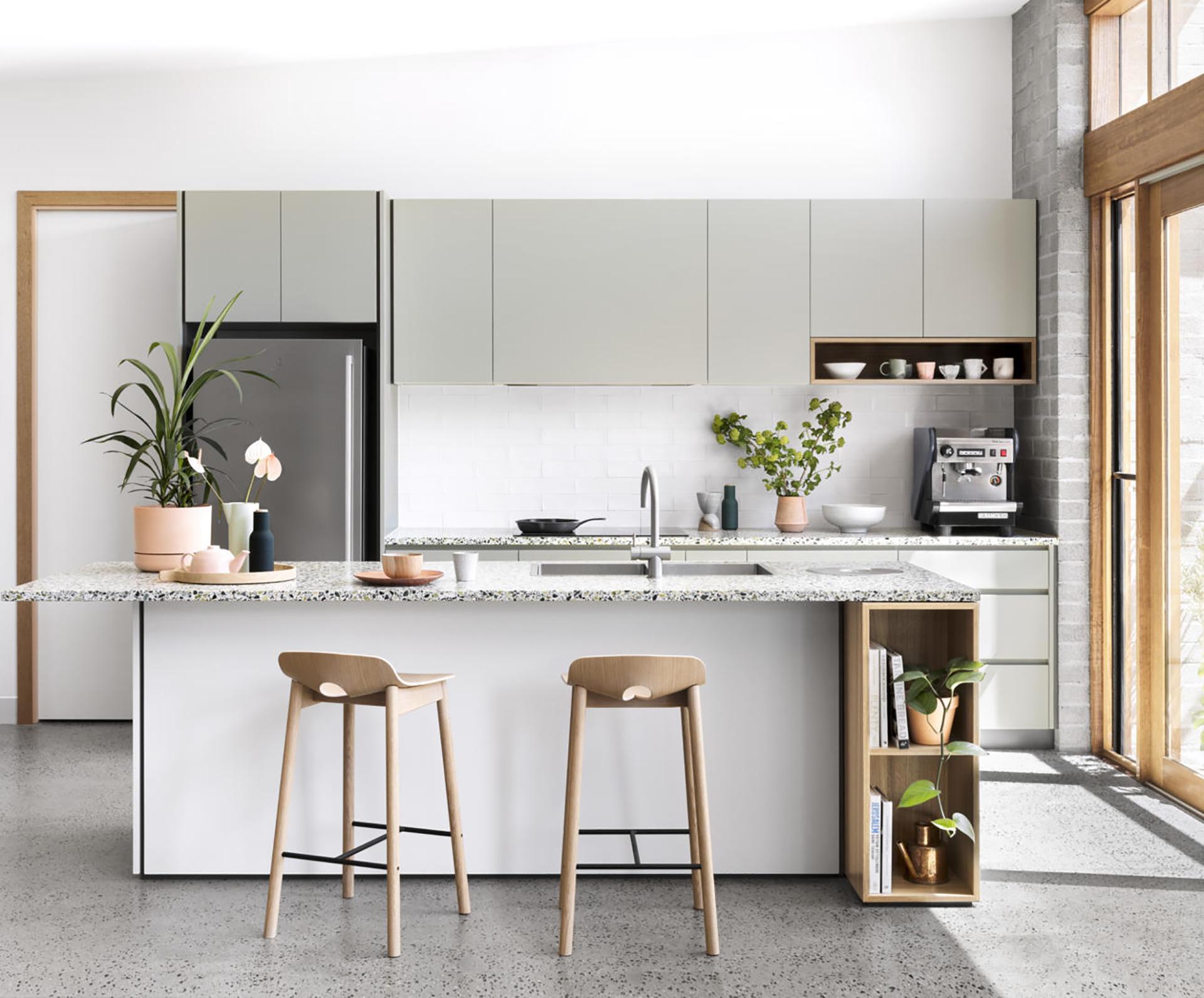 Modern kitchen inspired by the Mediterranean