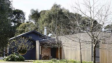 An Australian farmhouse with modern timber extension