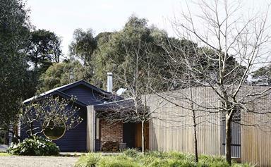 An Australian farmhouse with modern timber extension