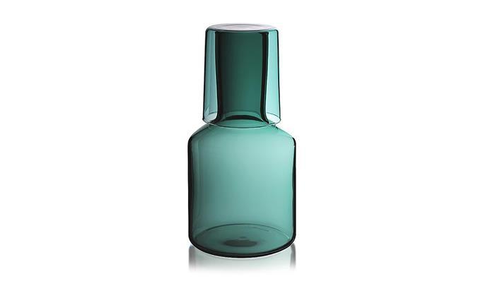 "T Carafe & Glass, $79, [Maison Balzac](https://www.maisonbalzac.com/products/t-carafe-glass-79|target=""_blank""|rel=""nofollow"")"