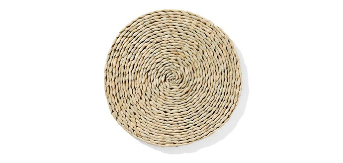 "Hyacinth Placemat, $3, [Kmart](https://www.kmart.com.au/product/hyacinth-placemat/820881|target=""_blank""|rel=""nofollow"")"