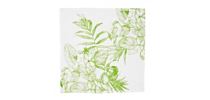 "Daintree Green napkins, $125/set of 6, [Bonnie and Neil](http://www.bonnieandneil.com.au/product/daintree-green-set-6/|target=""_blank""