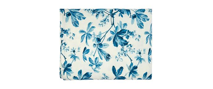 "D'Ascoli Tidewater chesnut-print tablecloth, $575, [Matchesfashion.com](https://www.matchesfashion.com/au/products/D%27Ascoli-Tidewater-chesnut-print-tablecloth--1267792|target=""_blank""