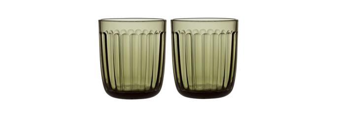 "Raami Tumbler Pair Moss Green, $29.95/pair, [Iitala.com.au](https://www.iittala.com.au/raami-tumbler-pair-moss-green.html|target=""_blank""|rel=""nofollow"")"