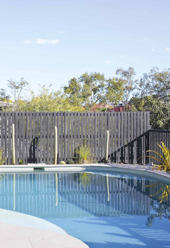 """**Pool** """"The pool got a major facelift – we drained and resurfaced it,"""" says Megan."""