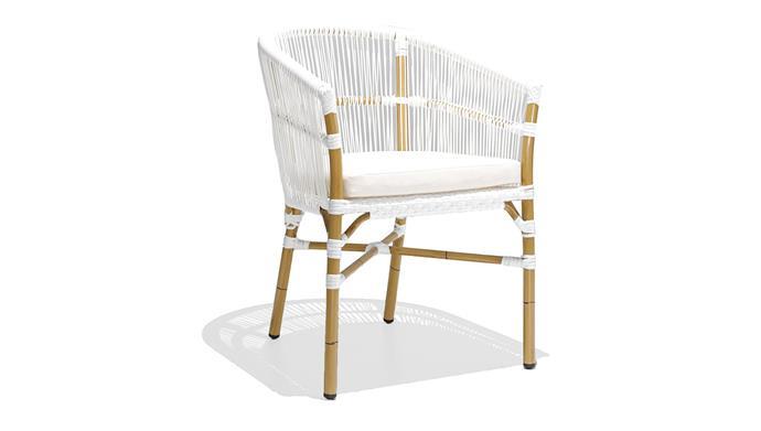 "Miami Arm Chair, $199, [Vorsen](https://www.vorsen.com.au/products/miami-arm-chair?variant=15326925488246&utm_campaign=gs-2018-10-19&utm_source=google&utm_medium=smart_campaign&gclid=CjwKCAiAqaTjBRAdEiwAOdx9xqpMbNffkQ75JwGmrMOQUQtDVzTeHnMqMMlmiOiOIR47JM1aNNQ8choCalMQAvD_BwE|target=""_blank""|rel=""nofollow"")"