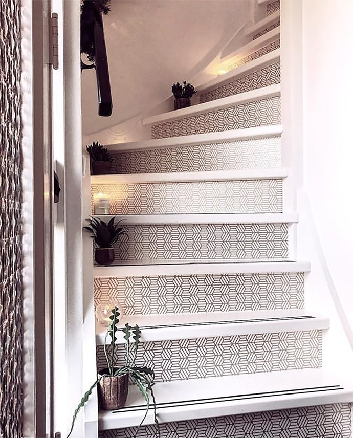 "**Stair Risers:** Stairways are often ignored and unloved as they are a means to getting somewhere else and not a place to linger. With a little bit of effort however, they can look really beautiful. Here [@andrea_groot](https://www.instagram.com/andrea_groot/|target=""_blank""