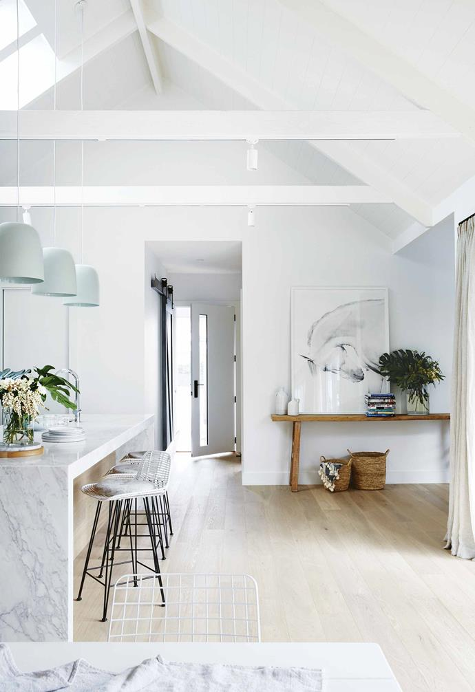 """Darren and I had just finished *The Block* when we started looking for a new project. Darren had become a registered builder so we were really keen to start our business and get stuck in.<br><br>**Entry** A [console table](https://www.homestolove.com.au/10-homes-that-make-the-case-for-consoles-6467