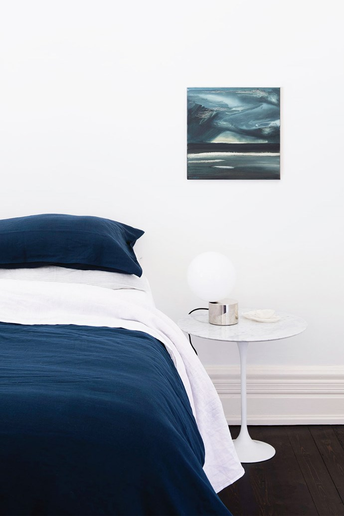 An all-white bedroom that is simply styled and furnished will maximise natural sunlight and can be updated as the seasons dictate.