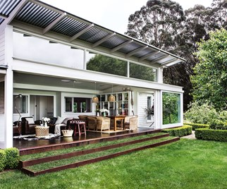 A classic cottage with modern glass extension in the Southern Highlands