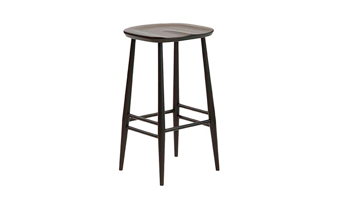 """Ercol 'Originals' bar stools, $625 each, [Temperature Design](https://www.ercol.com/en-au/collections/originals/bar-stool-with-back/