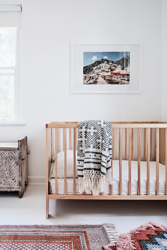 Like the rest of the home, baby Saskia's room evokes peaceful, relaxed vibes.