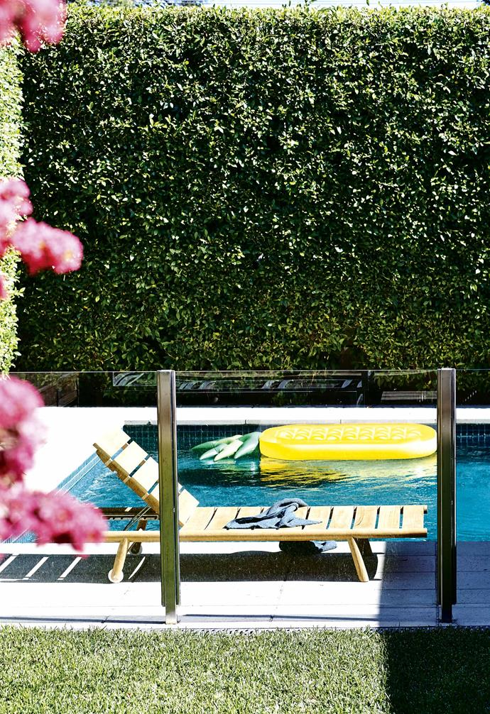 "**Lessons learnt** ""Reworking the layout was a huge leap of faith for us,"" says Sarah, ""However, shifting the orientation of the living spaces has created a much better outlook over the garden and changed the way we live and entertain, bringing it up to speed with contemporary living.""<br><br>**Pool** The pool offers a tranquil and private spot to relax."
