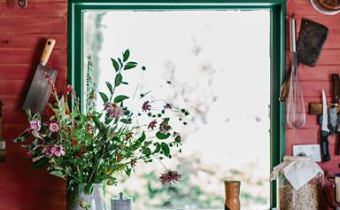 This red farmhouse in Glen Huon is home to a pair of ceramicists