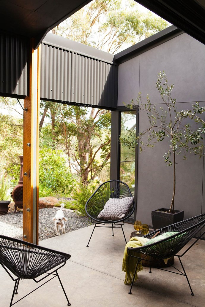 """Sheltered between the living room and second bedroom of [this country Victorian home](https://www.homestolove.com.au/gallery-pierina-and-josephs-dream-home-in-country-victoria-2438