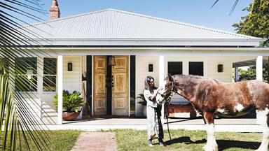 A rural weatherboard farmhouse has been transformed into a bohemian haven
