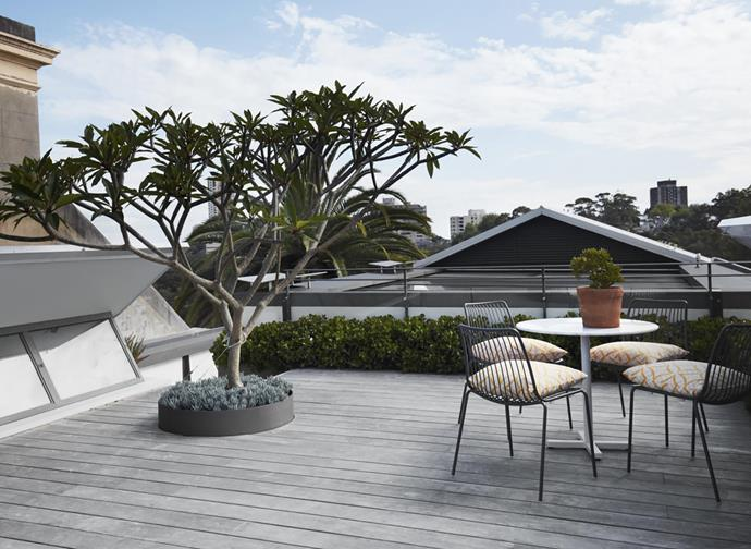 A roof terrace becomes a seating area with far-reaching views.