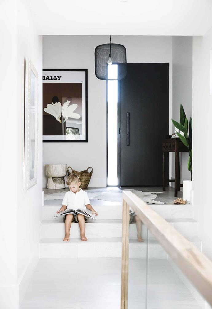 """After finishing their second renovation together in Melbourne, Matt and Sarah moved to Sydney when he was offered a transfer with work, and started househunting on the Northern Beaches. When a nearby house sold for $300k over reserve, they refined their search and found just one property in their budget.<br><br>**Entry** """"I love the [entrance](https://www.homestolove.com.au/entryway-decorating-tips-14962