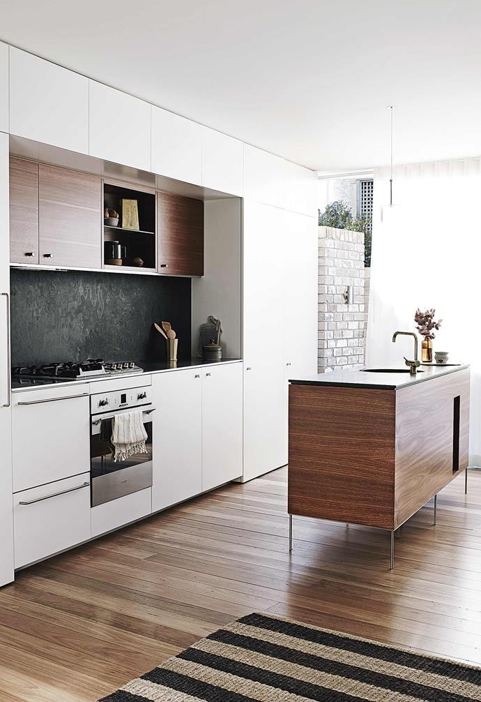 "**Stone wall** While marbles and granites are one of the more common materials used for kitchen splashbacks and [benchtops](https://www.homestolove.com.au/kitchen-benchtop-guide-19237|target=""_blank""), in this [newly built home in Balmain](https://www.homestolove.com.au/multigenerational-living-home-17001