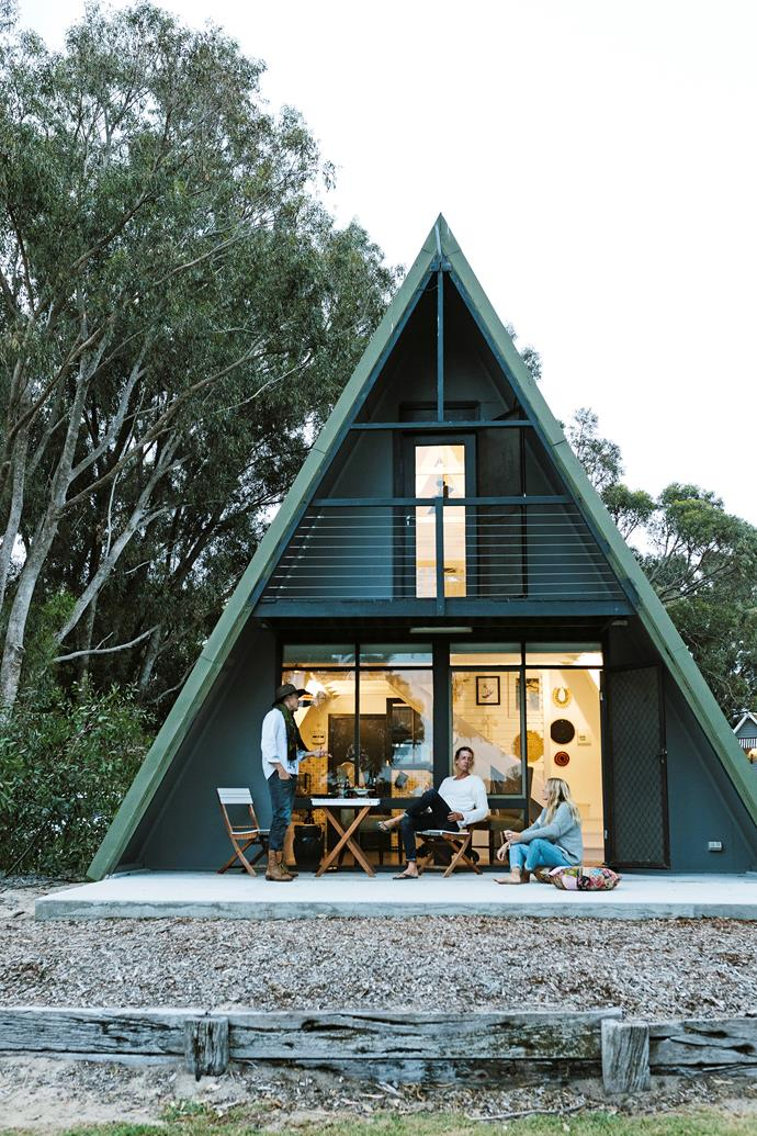 Four of the A-frame chalets are double storey, with a king bed on the upper level offering optimal views of the bushland outlook.