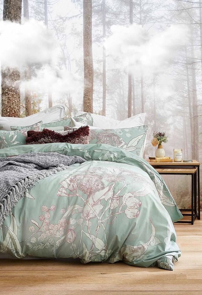 "Nellie quilt cover set, $29, Eilish tufted carpet rectangle cushion, $15, Carrie chenielle fringe throw, $29, [Target](https://www.target.com.au/|target=""_blank""|rel=""nofollow"")."