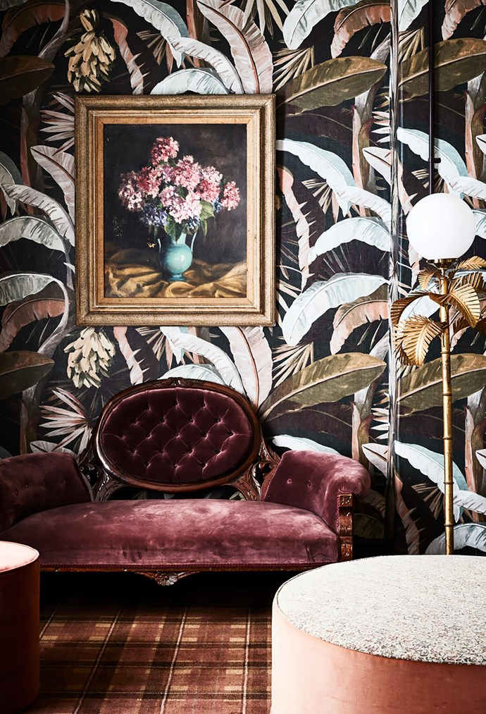 A hidden treasure, the Espy's women-only powder room references the hotel's past in its glamorous decor.