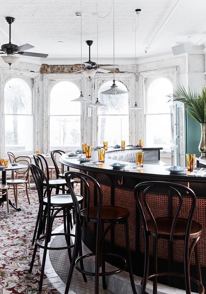 The Mya Tiger interior scheme takes its inspiration from Raffles Hotel in Singapore.