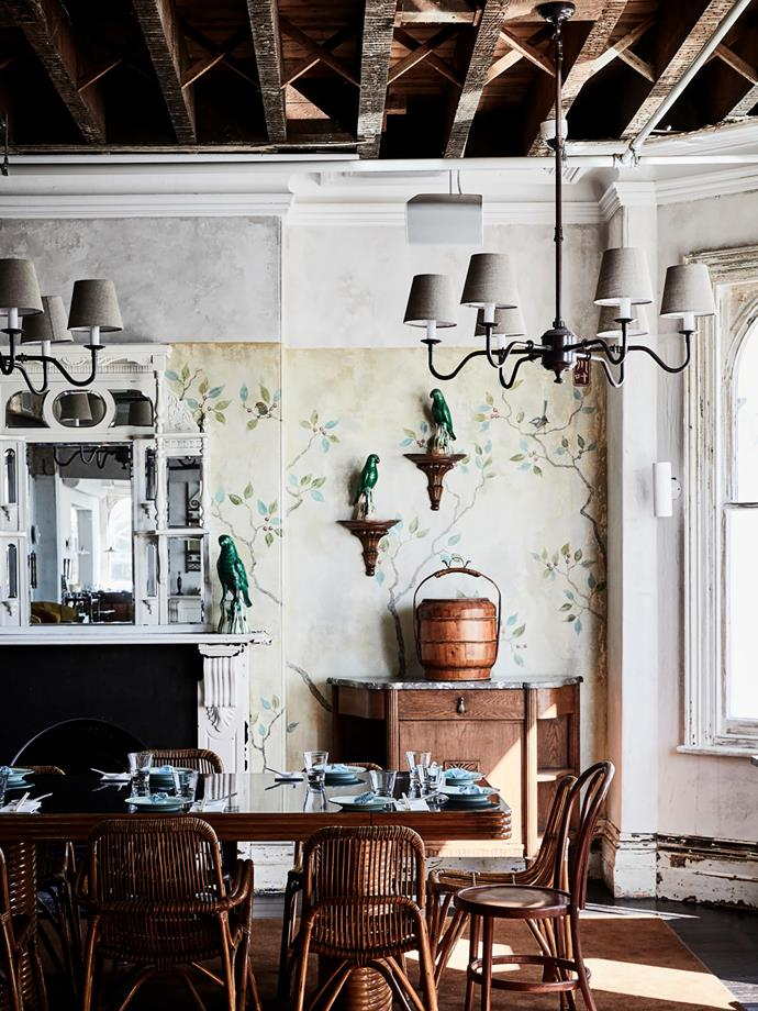"""""""The line between old and new is hazy,"""" says Techne's Justin Northrop of the newly made-over interiors. """"It was the most creative freedom I've ever had in my career,"""" says interiors stylist Eleisha Gray."""