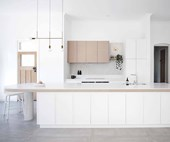 A sophisticated kitchen with a neutral colour palette
