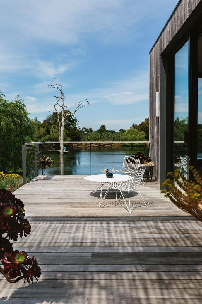 """A 'Tio' coffee table and easy chairs from [Luke Furniture](https://www.luke.com.au/