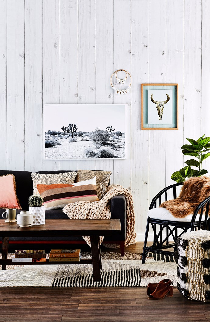 Pair plain cushions with patterned pillows for a balanced and refined look. *Photo: Scott Hawkins / bauersyndication.com.au*