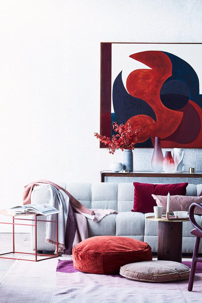 The more neutral your colour scheme, the bolder you can go with your cushions. *Photo: Maree Homer / bauersyndication.com.au*