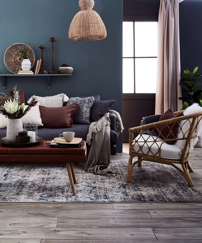 Draw the colour scheme of your cushions from a rug, a piece of artwork or even a printed scarf. *Photo: Kristina Soljo / bauersyndication.com.au*