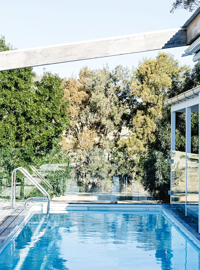 """We really wanted a pool,"" Hannah says. ""I wanted to use the outside more and I felt stepping off the verandah and into the pool would be more practical."""
