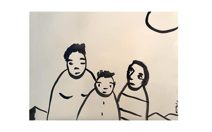 "Noah Taylor, *Family affair* 2018, $2000 unframed, from [olsengallery.com](https://www.olsengallery.com/enlarge.php?work_id=14122&artist_id=416&work_type_id=2|target=""_blank""