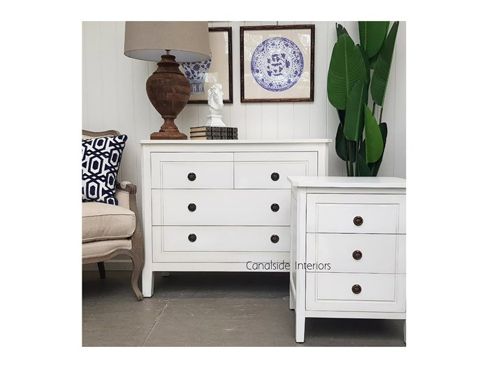 "Beckett Chest & 2x Bedsides in Distr White, $1,899.00, from [canalside.com.au](https://www.canalside.com.au/package-deal-beckett-chest-2x-bedsides-distr-white/|target=""_blank""