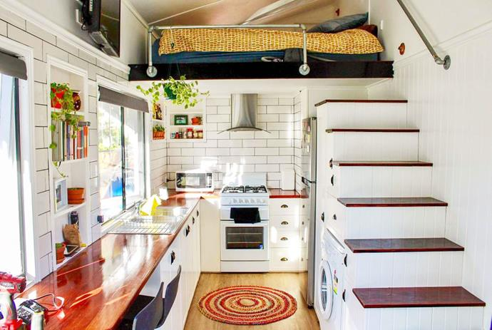 "**TABITHA THE TINY HOUSE, LAIDLEY SOUTH, QLD**<P> <P>Is Tabitha a tiny home or a 'giant cubby house'? That's up to you to find out! This off-the-grid getaway is the perfect antidote to the hustle and bustle of city life. Located on a hobby farm in Queensland's Lockyer Valley Region, you're sure to feel relaxed and refreshed after a weekend here, hanging out with the resident farm animals.<p> <p>**For information and bookings, visit [Tabitha the Tiny House on Airbnb](https://www.airbnb.com.au/rooms/24876264 |target=""_blank""