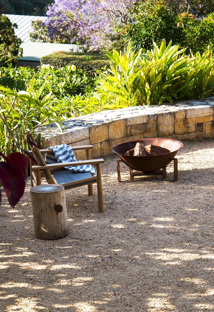 "**Front garden** A landing halfway up the stepped slope provides a place to stop and admire the view. 'Hunter' chair, [Eco Outdoor](https://www.ecooutdoor.com.au/|target=""_blank""