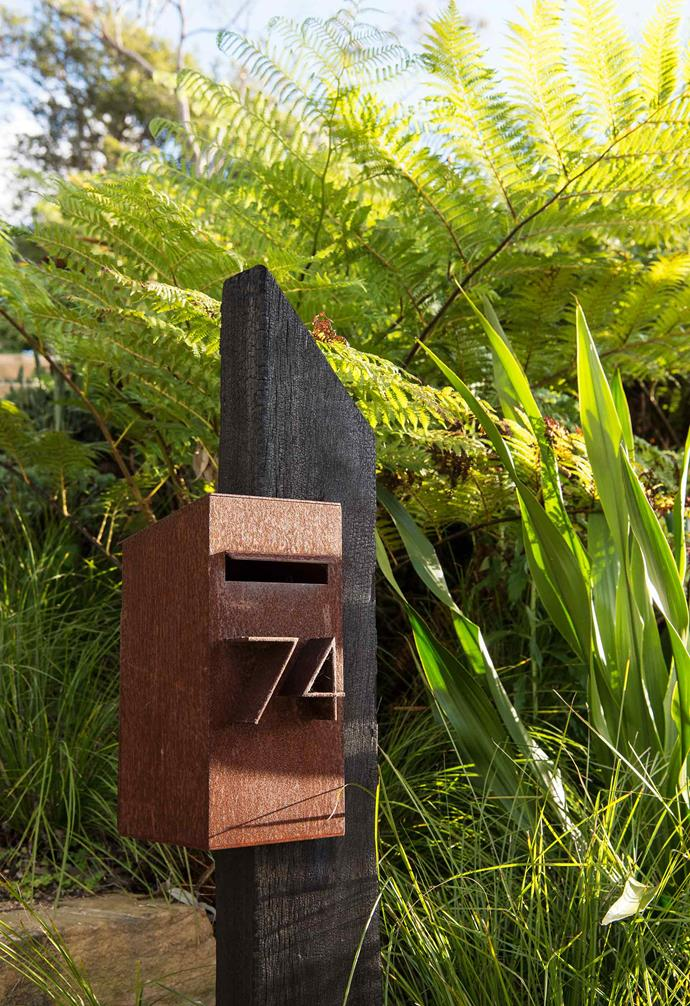 **Front garden** The home's architect designed the letterbox.
