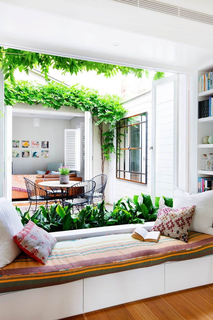 "The action in this versatile home centres around the [new central courtyard](https://www.homestolove.com.au/sydney-semi-opens-up-to-the-elements-3388|target=""_blank""). The rooms surrounding it – the family room, kitchen and living room – all enjoy plenty of sunshine thanks to that much-desired northerly aspect. *Photography*: Maree Homer"