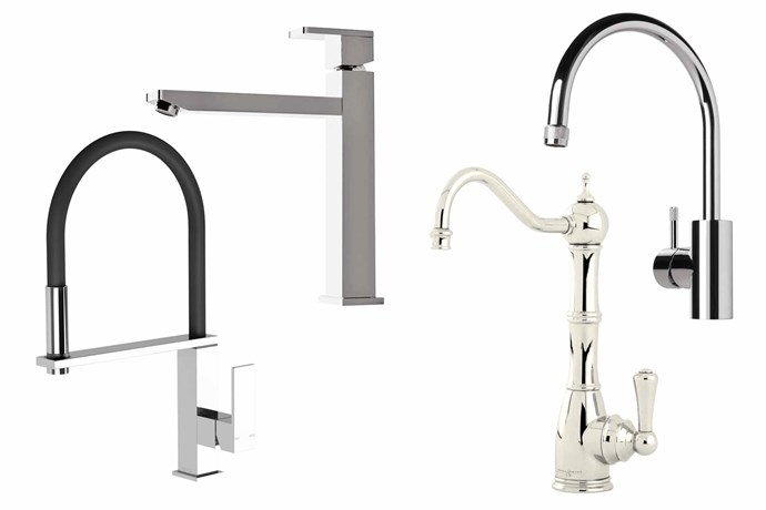 "**Miser magic** Curved, square or in between, you won't run hot and cold. **Top picks** (from left) 'Vezz' flexible hose sink mixer, $449.35, [Phoenix Tapware](https://www.phoenixtapware.com.au/|target=""_blank""
