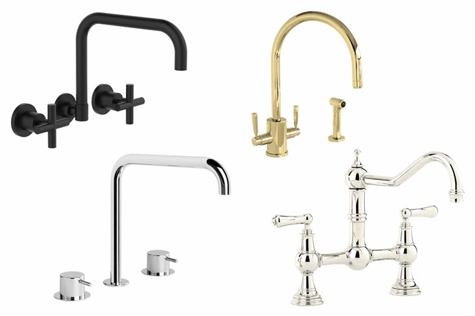 "**Classic shapes** Vintage taps never go out of style. If it ain't broke, don't fix it! **Top picks** (clockwise from left) Clark 'Cross' wall sink set, $145, [Cooks Plumbing Supplies](https://cooksplumbing.com.au/|target=""_blank""