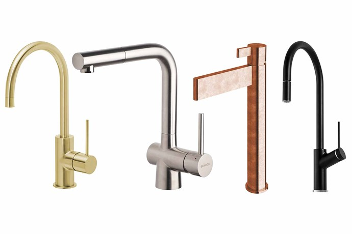 "**Trend setters** Once you have the style sorted, ask yourself, does it look the part? **Top picks** (from left) 'Vivid' slimline gooseneck sink mixer, $345.60, [Phoenix Tapware](https://www.phoenixtapware.com.au/|target=""_blank""