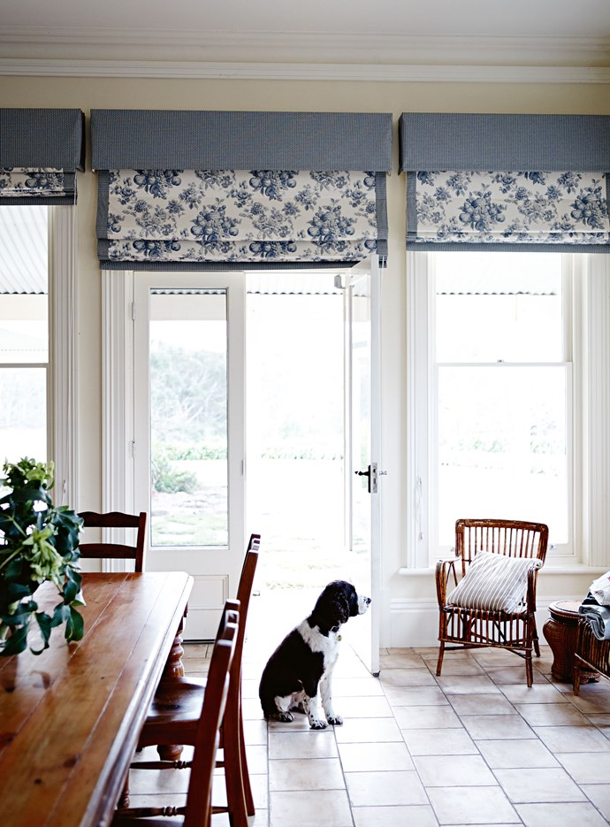 "The kitchen is in a [classic English farmhouse style](https://www.homestolove.com.au/traditional-english-style-country-cottage-12235|target=""_blank""), with sash windows that stretch from the floor almost to the ceiling and frame views to the garden. The family found themselves craving natural light after their stay in the northern hemisphere."