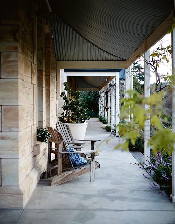 "The restored verandah and the new stone extension at Rockford. Jane's birthplace is New Zealand. While employed as a farm lobbyist she met Kym, who was raised on a small farm in South Australia, when he came to Auckland to work in the [wine industry](https://www.homestolove.com.au/rose-garden-at-sunnyhurst-winery-bridgetown-wa-12292|target=""_blank""). At the time of her epic flight, she and Kym had been living in England for as decade."