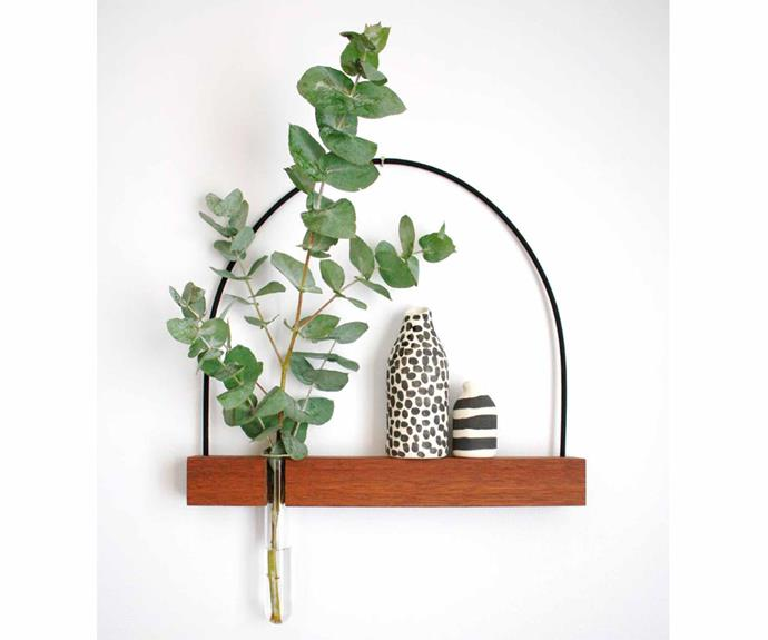 "'Fusion' shelf and vase, $130, [Kirralee & Co](http://www.kirralee.co/|target=""_blank""