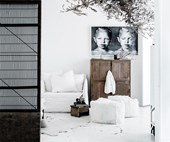 10 homes with white interiors